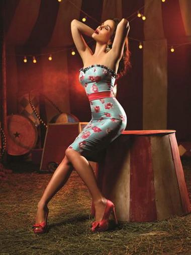 Наталья Орейро на фотосессии для своего бренда Las Oreiro