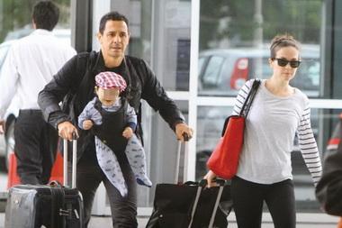 Наталия Орейро с сыном
