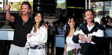 Факундо Арана с женой